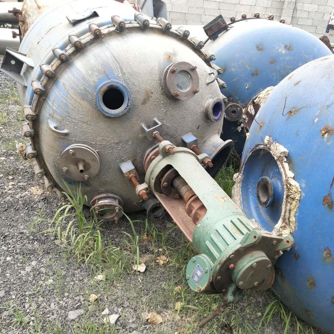 供应二手三吨开式搪瓷反应釜