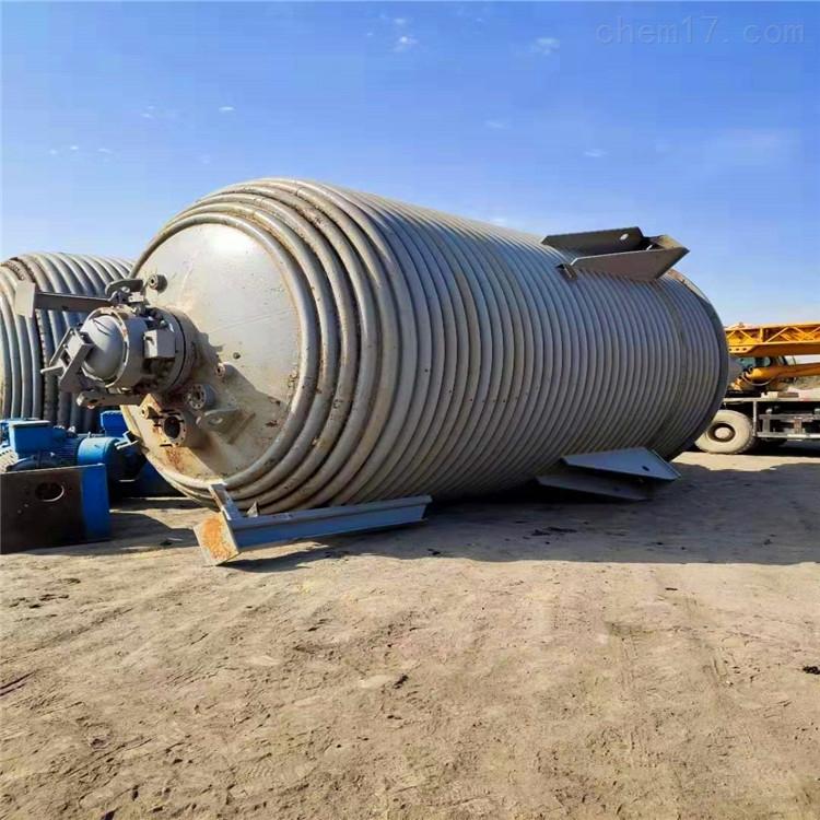 供应二手5立方蒸汽电加热盘管反应釜