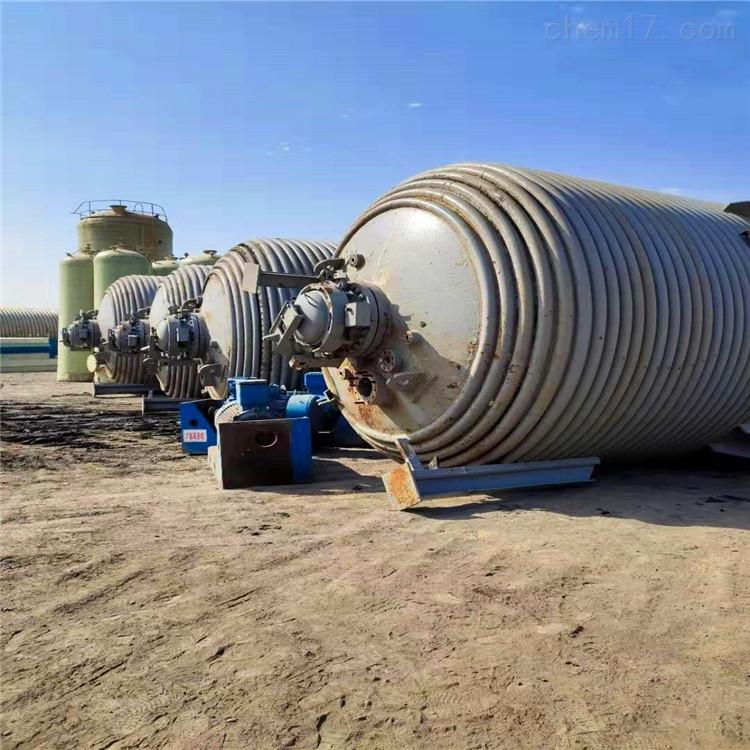 低价处理二手5立方蒸汽电加热盘管反应釜