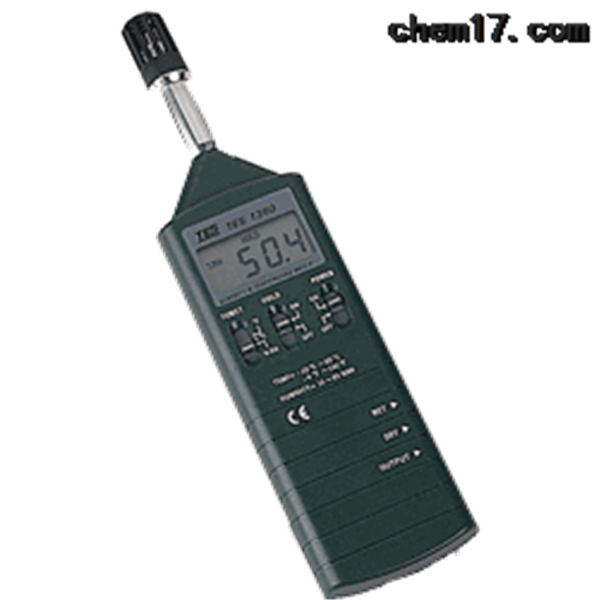 TES-1360A数字式温湿度计、10% - 95% R.H.、 -20℃-60℃