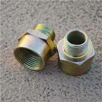 防爆管接头,BGJ两端内螺纹1/2''碳素钢防爆管接头(金黄色)