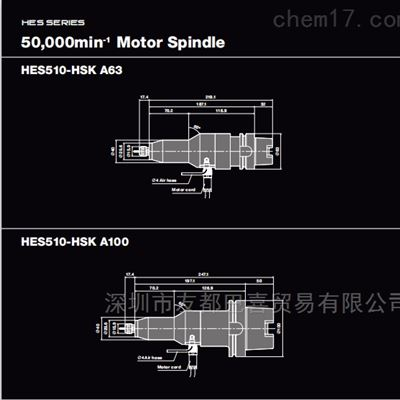 日本NSK中西高速主轴HES510-HSK A100现货