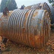 回收二手不锈钢外盘管反应釜