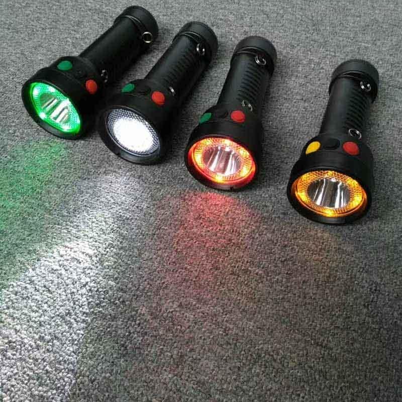 YJ1014红绿白铁路三色信号手电筒四色灯