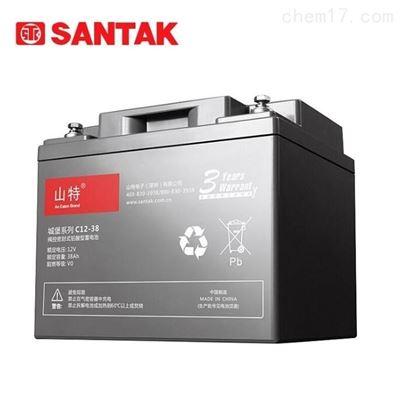 C12-38山特免维护12V38AH城堡系列铅酸蓄电池