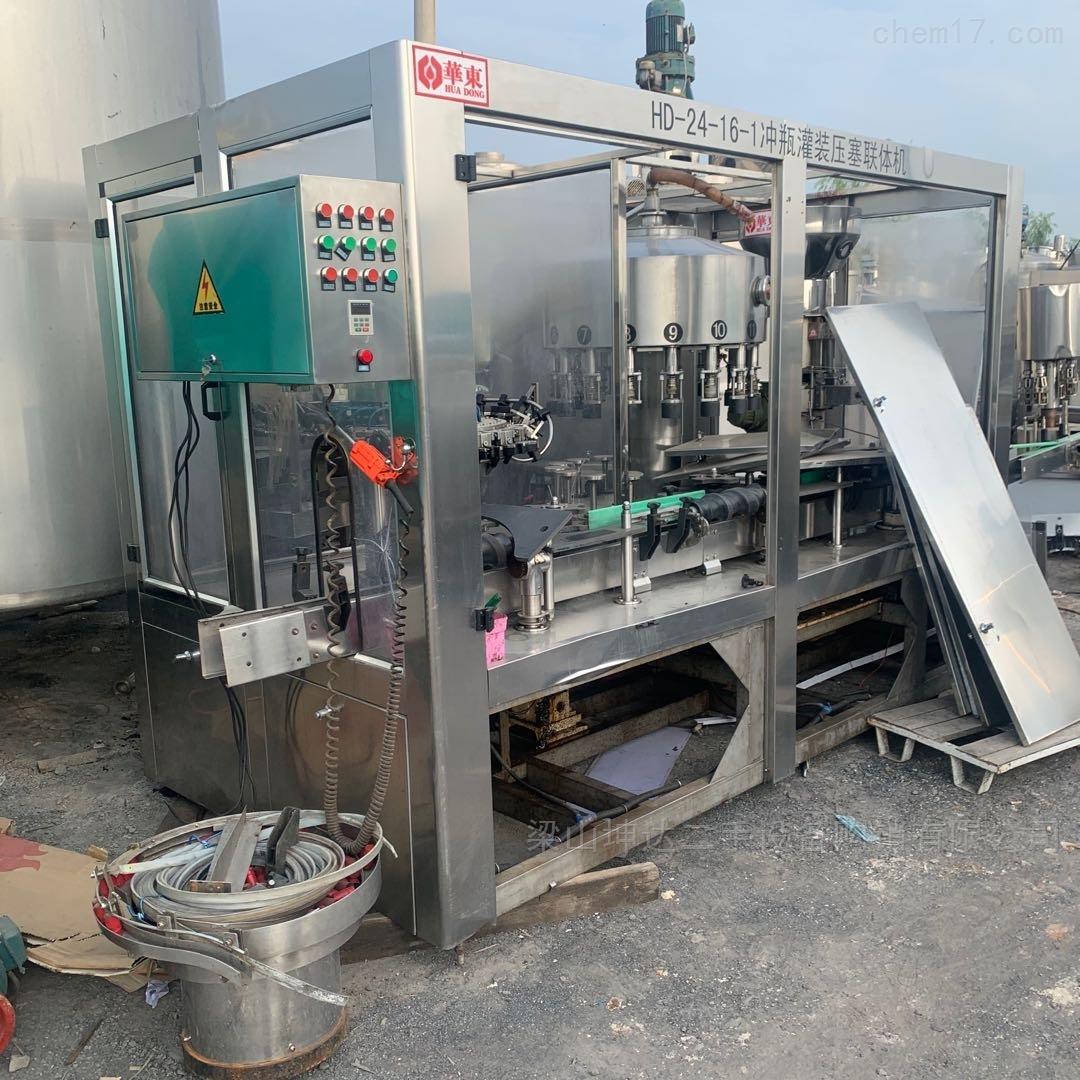 回收二手灌装机械 冲瓶灌装压塞联体机