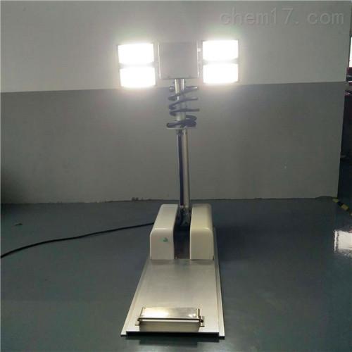 气动升降照明灯系统现场勘察直流充电应急灯