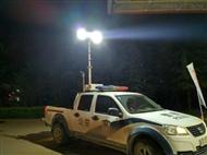 倒伏升降照明灯现场勘察安装车顶升降照明系统