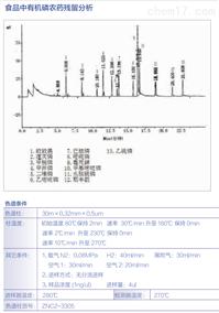 食品中有机磷/氯农药残留分析