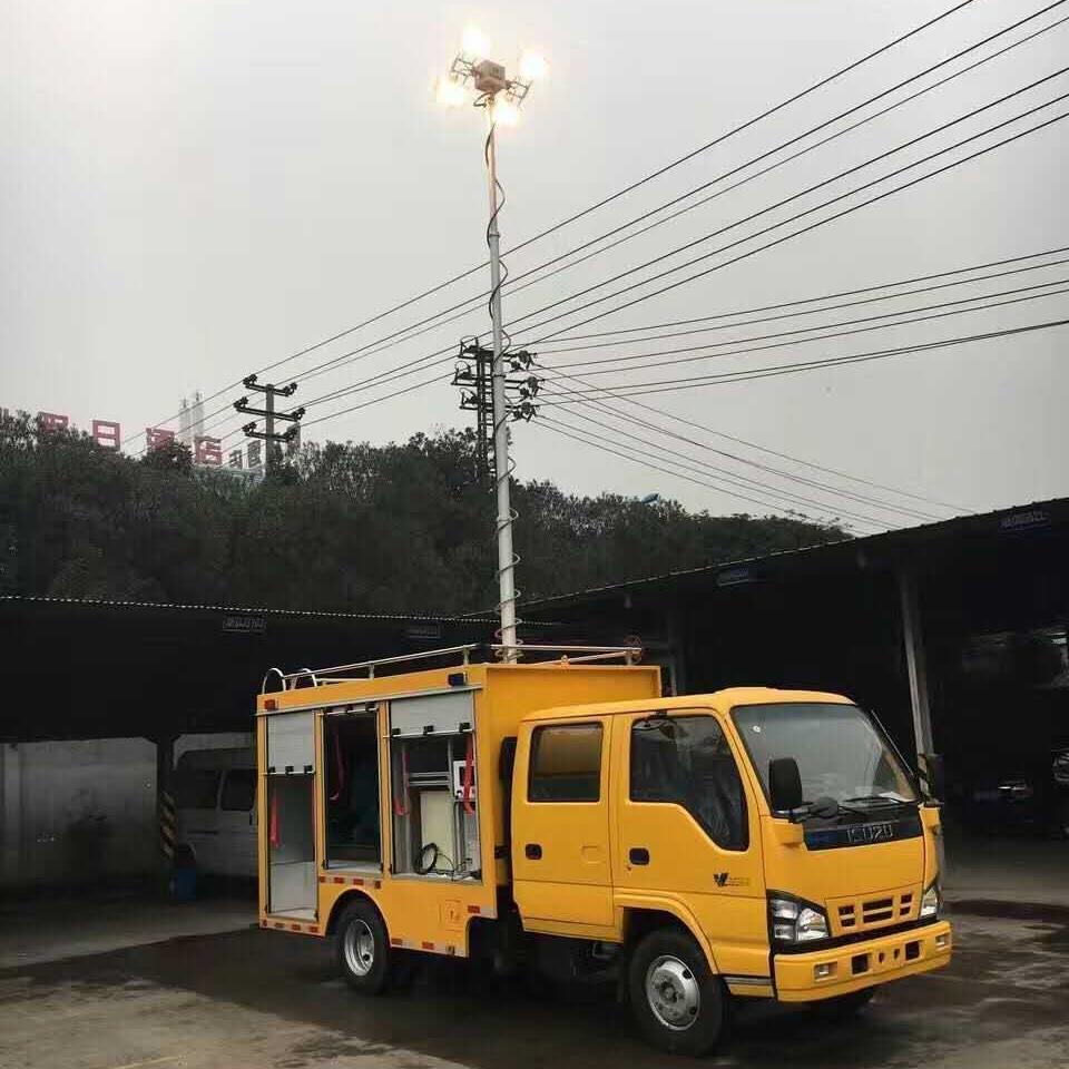 河圣安全 气动式照明灯 车载移动照明设备