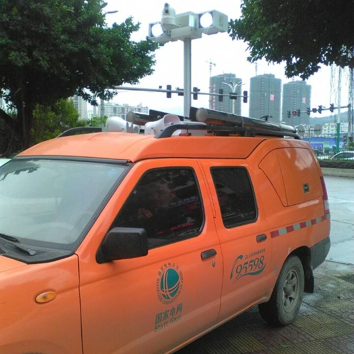 车载升降照明设备 便携式升降探照灯 河圣