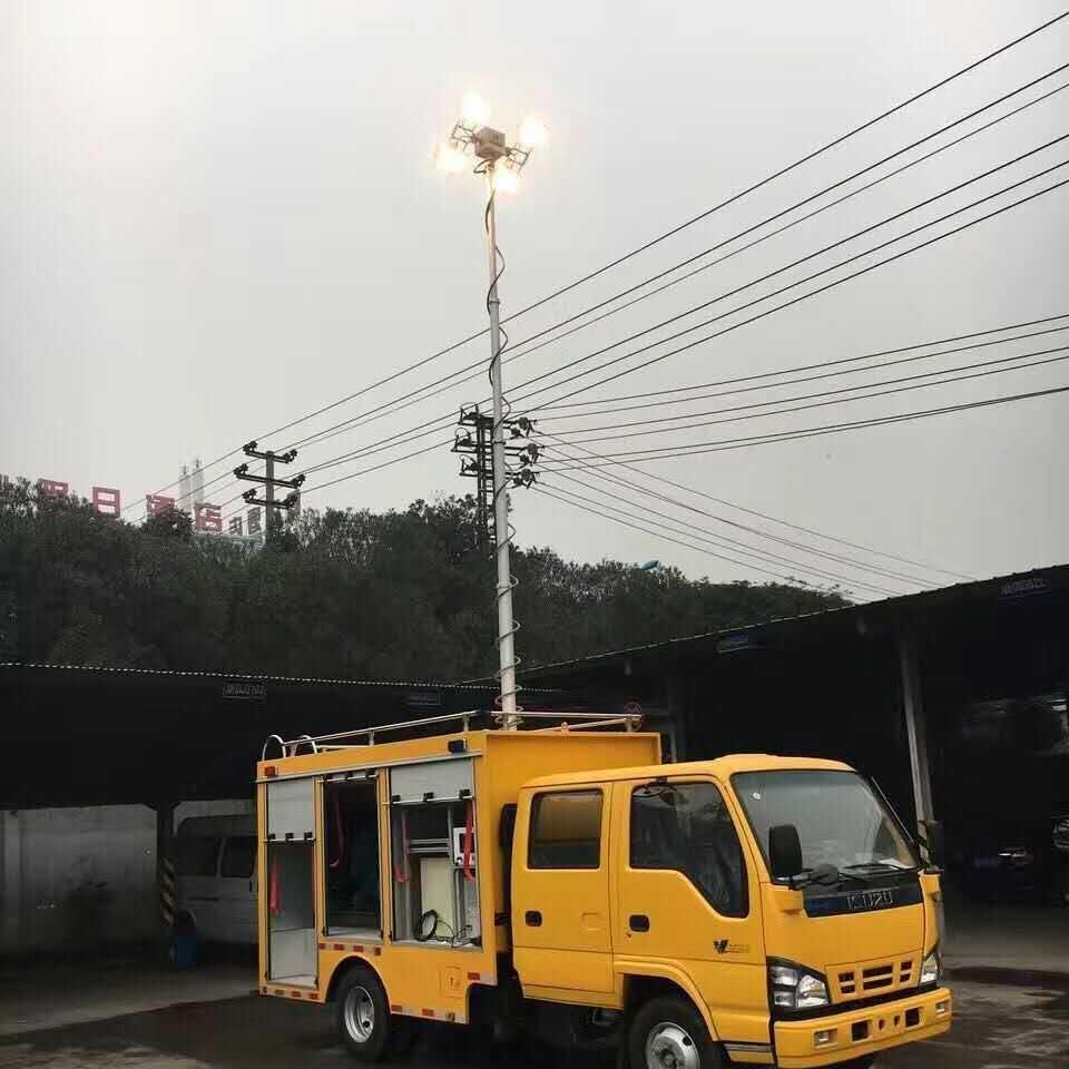 车顶升降照明系统 移动升降探照灯 河圣
