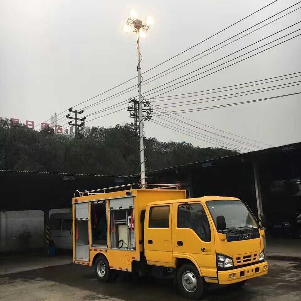 上海河圣 勘察车升降照明灯 应急移动照明