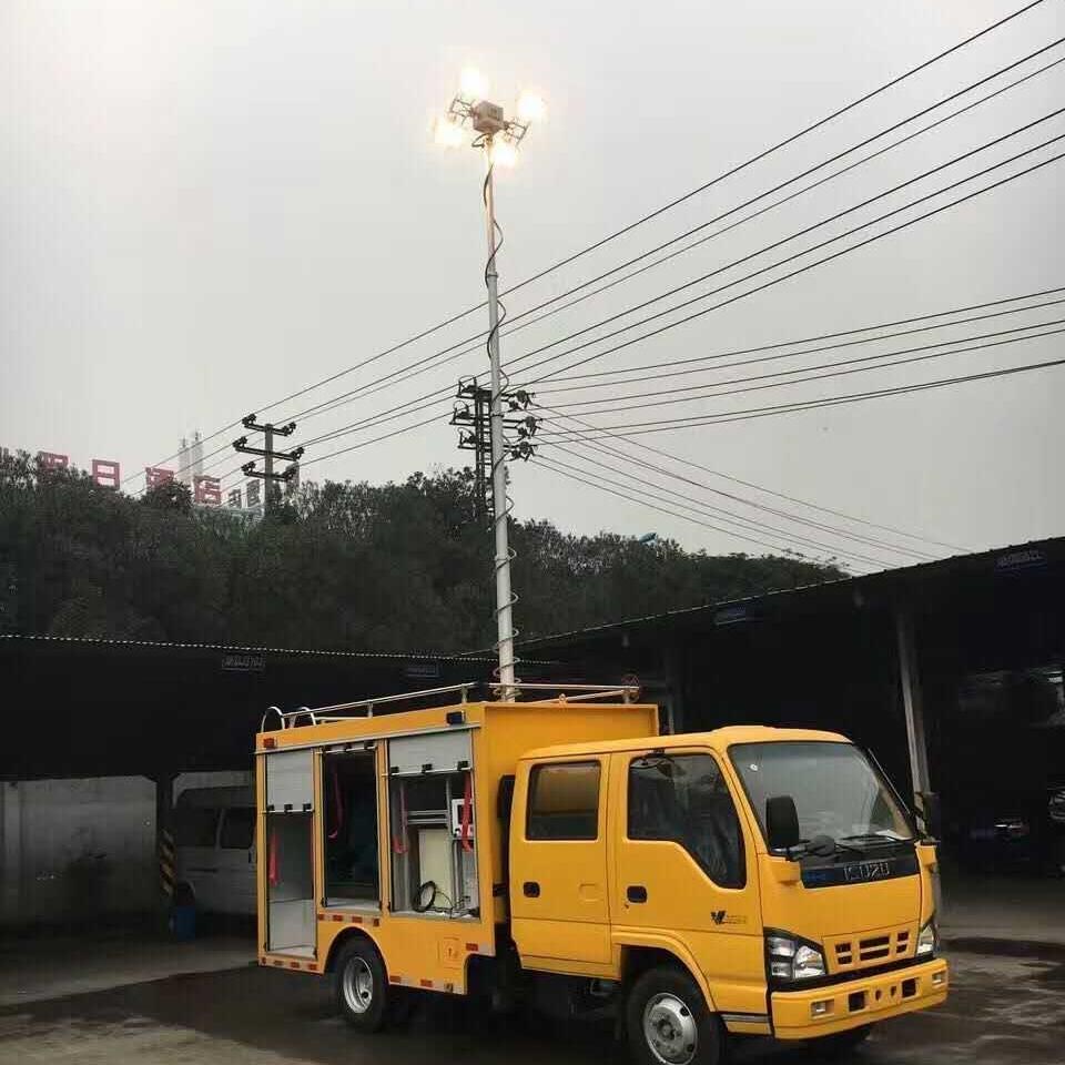 4.5米照明灯装置 车用升降照 气动桅杆