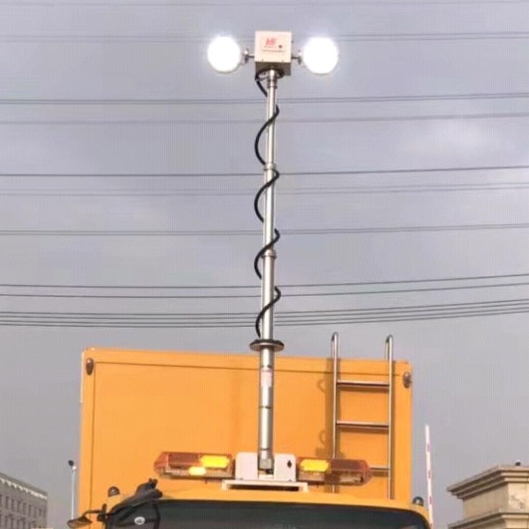 上海河圣 直立式升降照明设备 移动照明