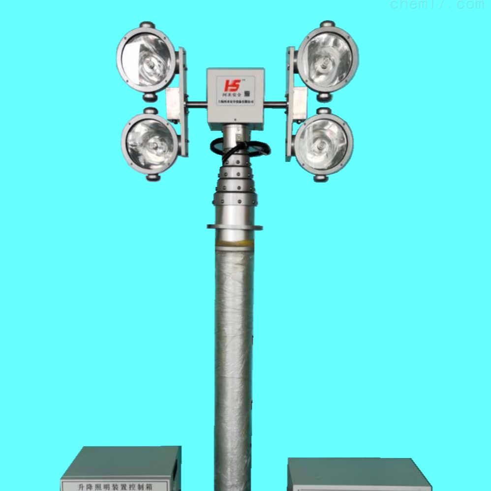 河圣安全 气动式升降灯 车载移动照明设备