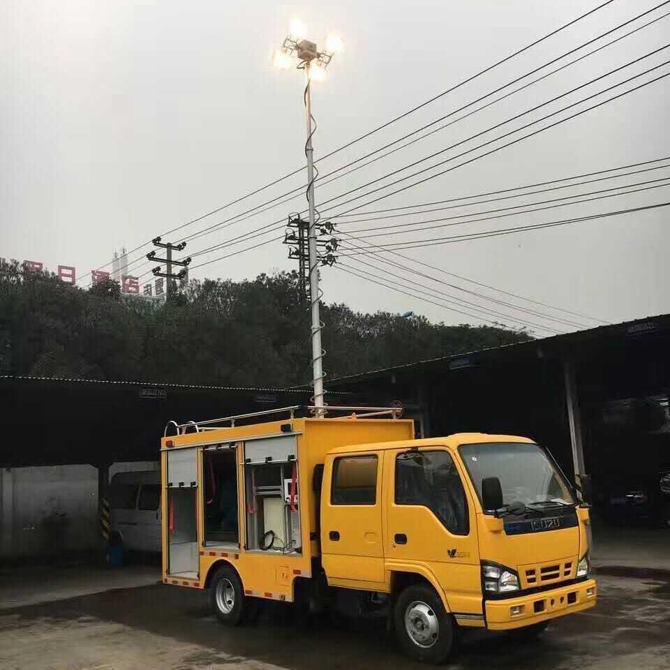 河圣安全 气动式升降灯 应急移动照明