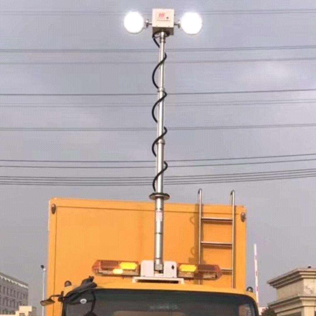 上海河圣 大功率升降照明系统 4灯头照明灯