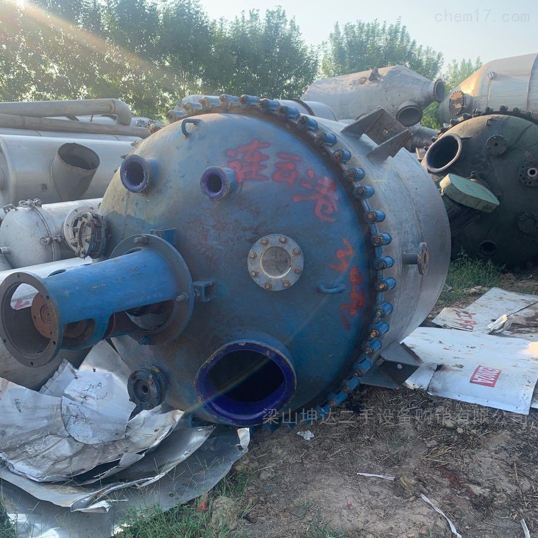 二手耐腐蚀搪玻璃反应釜 3吨 5吨