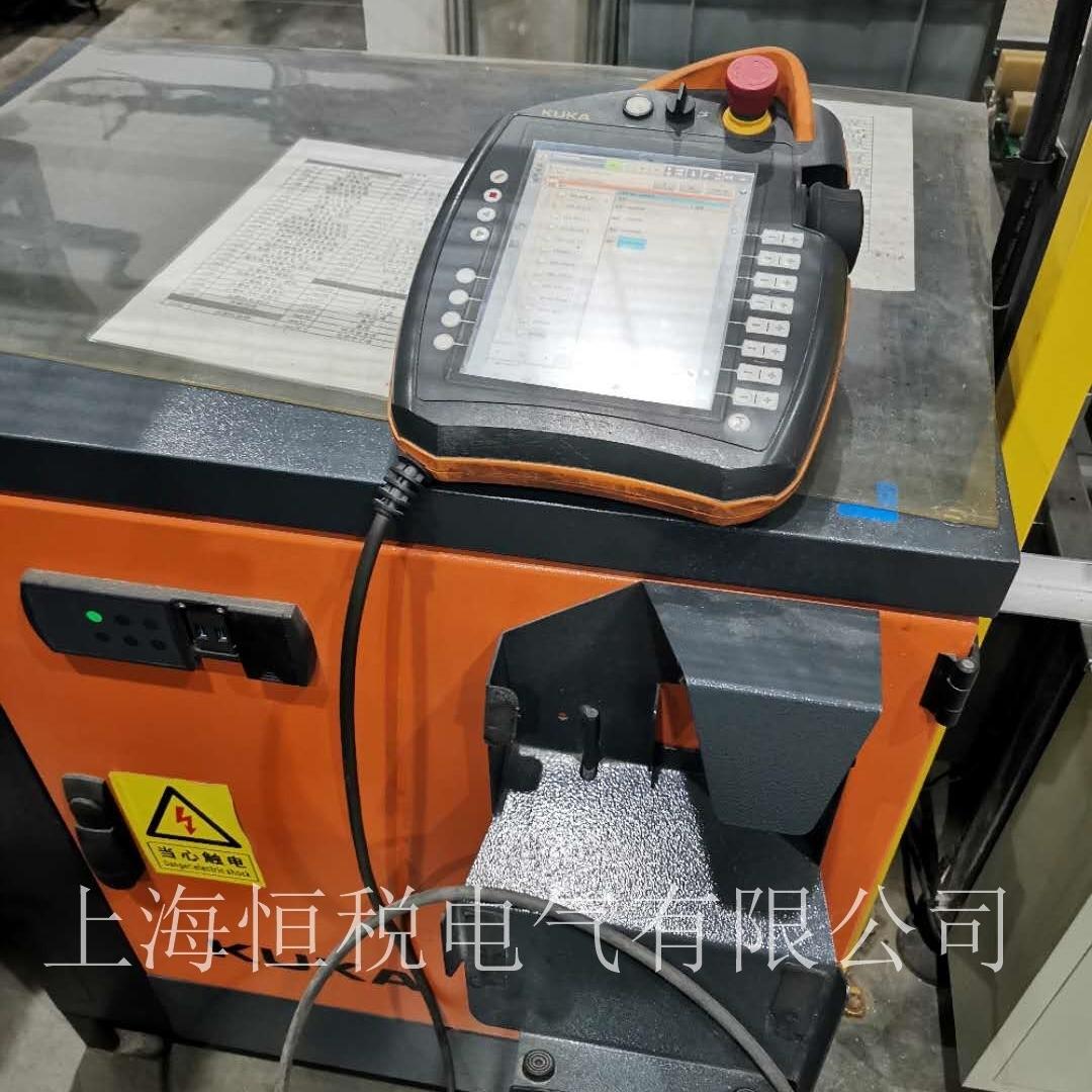 KUKA机器人示教器上电屏幕显示白屏维修检测