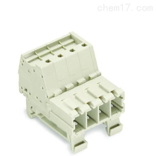 结构分析:万可WAGO1芯公连接器