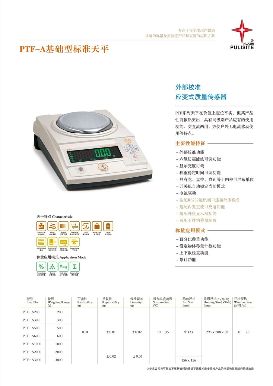 PTF-A2000电子天平