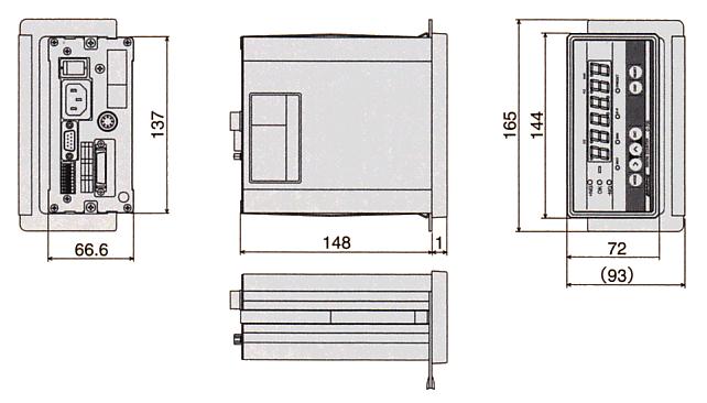 数字柜台尺寸图