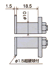 探头LB-7V的尺寸图
