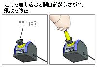 插入抹子会阻塞开口并防止散落