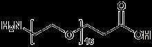 H<sub>2</sub>N-PEG<sub>16</sub>-CH<sub>2</sub>CH<sub>2</sub>COOH