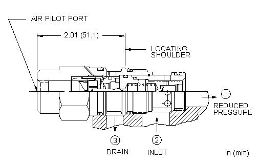 PBFC : 气控, 先导控制式, 减压阀