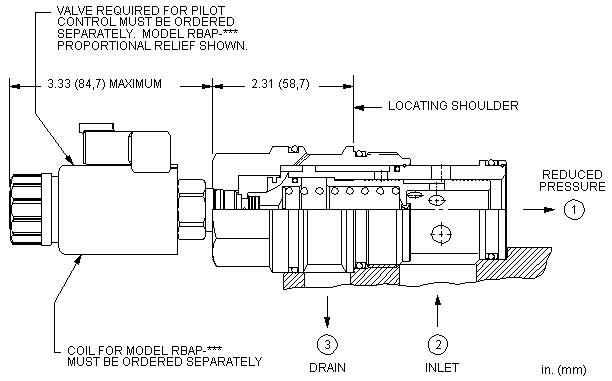 PBJB8 : 先导控制式, 减压 主级 带集成T-8A控制插孔