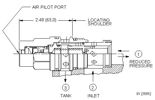 PPHC : 气控, 先导控制式, 减压/溢流阀