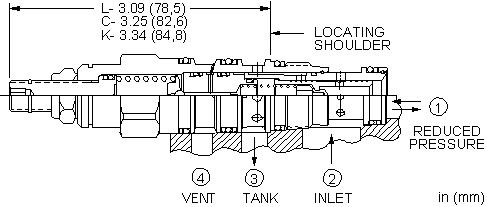 PVDB : 外接口控制, 先导控制式, 减压/溢流阀