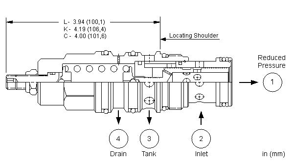 PSHB : 直动式, 减压/溢流阀 带口4外泄