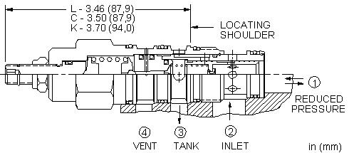 PVFB : 外接口控制, 先导控制式, 减压/溢流阀