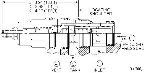 PVHB : 外接口控制, 先导控制式, 减压/溢流阀