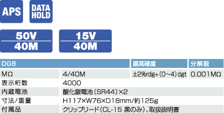 DG8数字式绝缘电阻计 日本三和Sanwa绝缘电阻计DG-8
