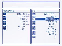 测量结果与设定值