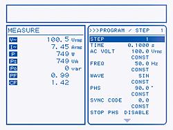 序列功能的画面设定