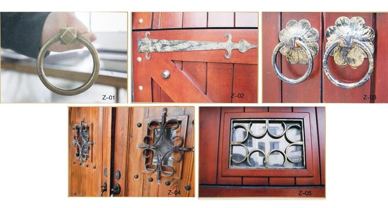 铝木上滑车库门装饰件